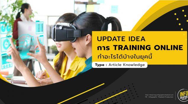 "Update Idea การ ""Training  Online ให้พนักงาน"" ทำอะไรได้บ้างในยุคนี้"